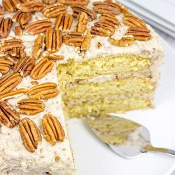 If you're looking for a unique and delicious cake recipe, then look no further! This Southern Pecan Praline Cake is one of our new favorites!
