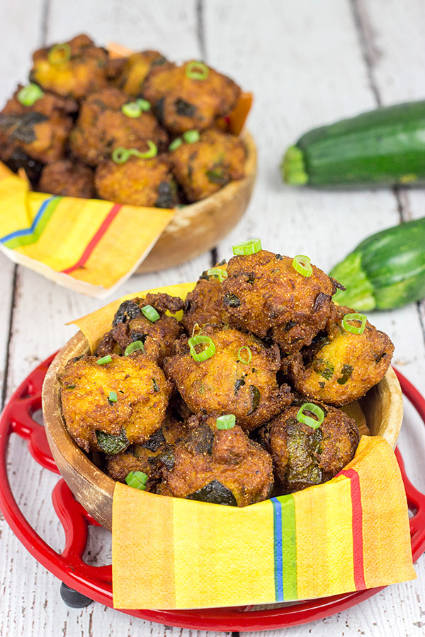 Overwhelmed with zucchini from the garden? These Zucchini Hushpuppies are a fun and tasty way to use those extra zukes!