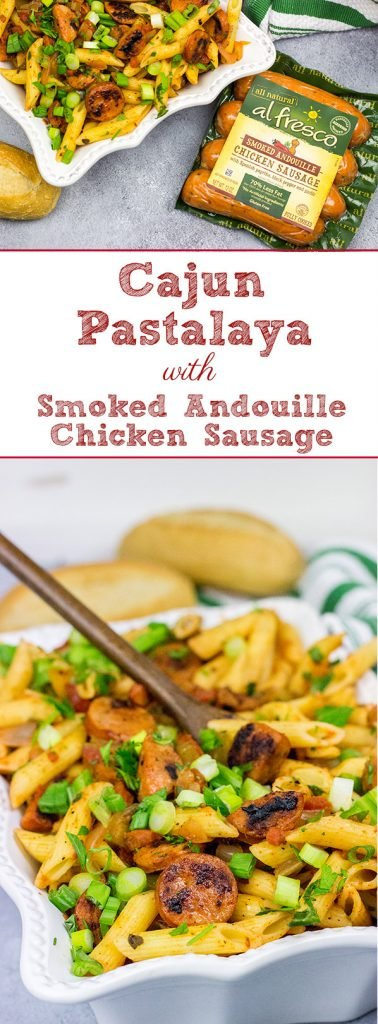 Mix up the weeknight dinner routine with this Cajun Pastalaya with Smoked Andouille Chicken Sausage!