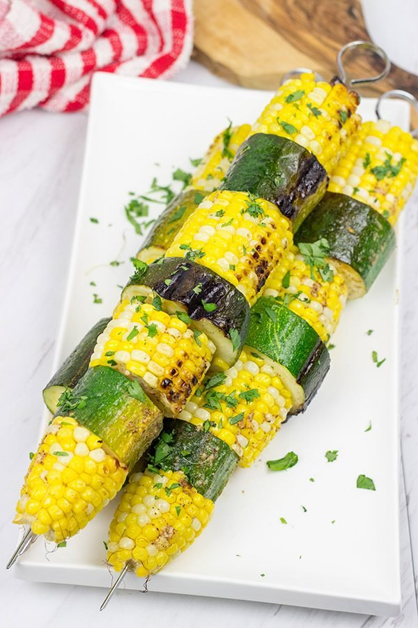 These Grilled Corn on the Cob Skewers make for an easy and fun summer side dish on the grill!