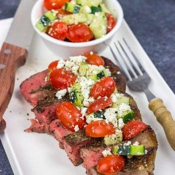 Grilled T-Bone Steaks with Greek Seasoning