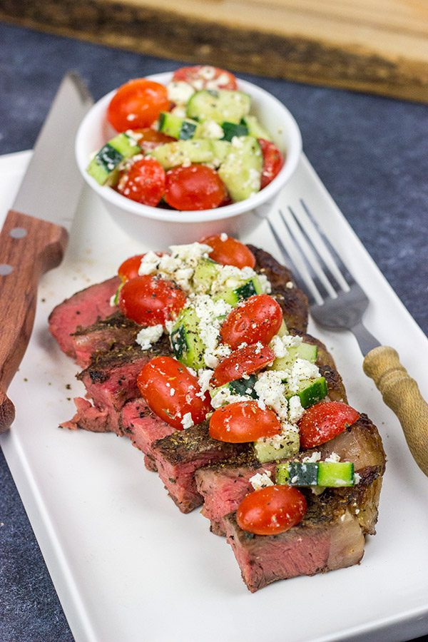 These Grilled T-Bone Steaks with Greek Seasoning are a great way to enjoy summer grilling season! They're tasty...and easy enough to make on a weeknight!