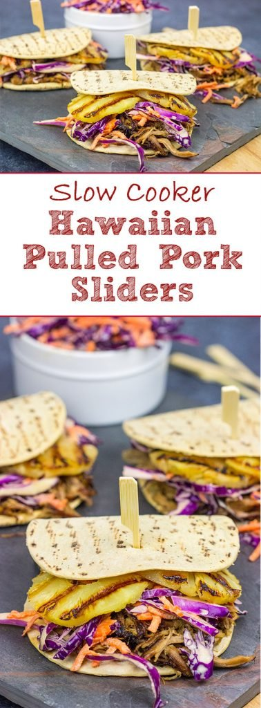 It might be summer, but let's pull out that slow cooker!  These Slow Cooker Hawaiian Pulled Pork Sliders are an easy and delicious way to feed a crowd!