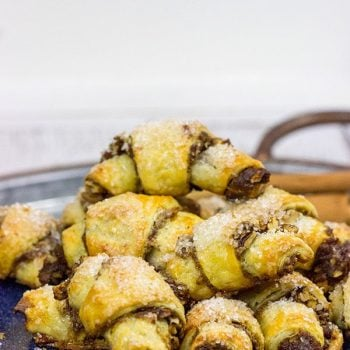 This Pumpkin Spice Rugelach includes real pumpkin in addition to your favorite Fall spices...it's the perfect sweet treat on a chilly day!