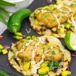Spicy Beer Battered Fish Fillet Tostadas with Pineapple Salsa