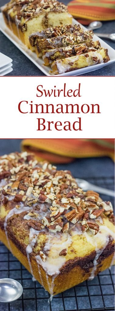 If you love the smell of cinnamon and nutmeg baking in the oven, then bake up a loaf of this Swirled Cinnamon Bread. It's a great way to celebrate the Fall baking season!