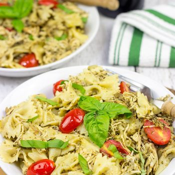 3-Cheese Slow Cooker Pesto Chicken Pasta