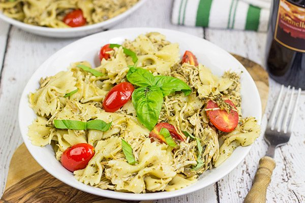 This 3-Cheese Slow Cooker Pesto Chicken Pasta is cheesy and delicious...and it's sure to keep you warm on these chilly nights!