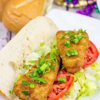 Looking for a fun new weeknight meal?  These Beer Battered Fish Po'Boys are packed with flavor, and they're ready in less than 30 minutes!