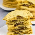 Surprise!  These Chocolate Stuffed Peanut Butter Cookies are stuffed with a layer of melty chocolate.  Yum!