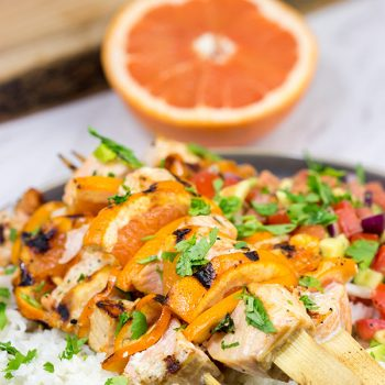 TheseCitrus Grilled Salmon Skewers are an easy and delicious way to enjoy dinner on the grill! They're perfect for everything from backyard parties to tailgating with friends!