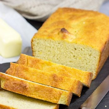 This Almond Flour Bread is an easy, low-carb bread. We loved lightly toasting slices of this bread with a bit of butter and jam!