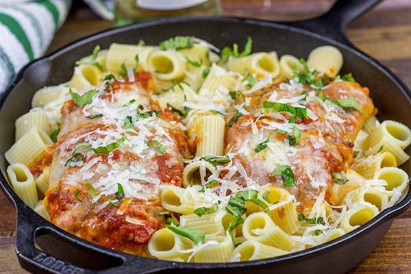 Stuffed with melty cheese, this Baked Parmesan Stuffed Chicken is a twist on the Italian classic...and it can be ready in 30 minutes!