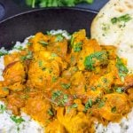 Skip the take-out and make this Chicken Tikka Masala at home!  Simmered in a flavorful yogurt marinade, this classic Indian dish is packed with incredible flavor!
