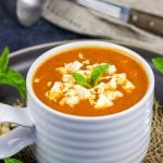 This Creamy Tomato Orzo Soup is easy to make and loaded with flavor. It's the perfect meal ona cold winter day!