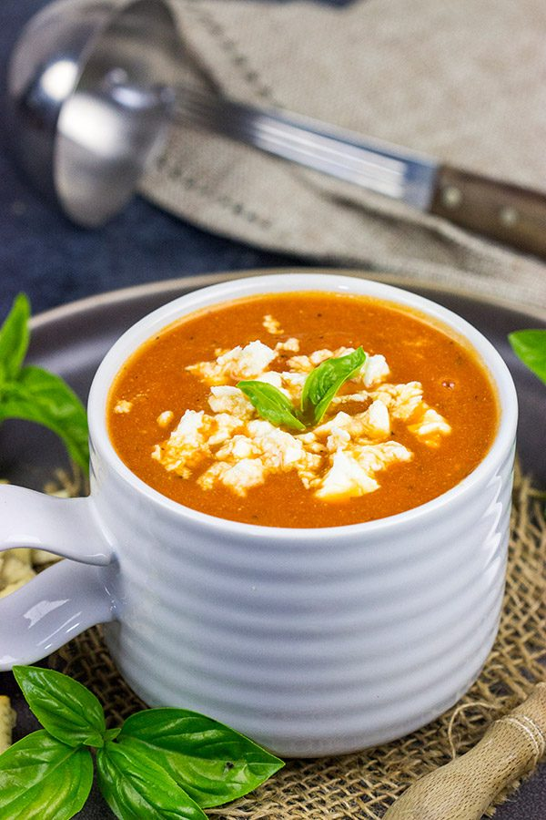 This Creamy Tomato Orzo Soup is easy to make and loaded with flavor.  It's the perfect meal on a cold winter day!