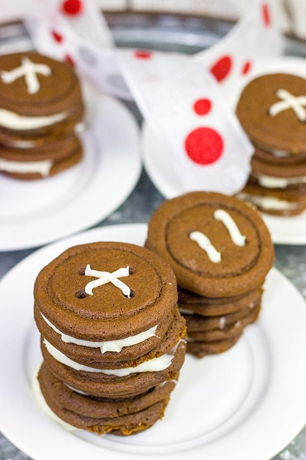 These Gingerbread Button Cookies are a fun way to add a twist to the holiday cookie tray!