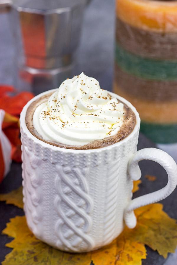 Pumpkin Spice Mocha Hot Chocolate