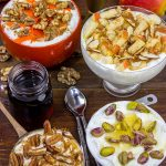 Greek Yogurt with Nuts, Honey and Maple Syrup