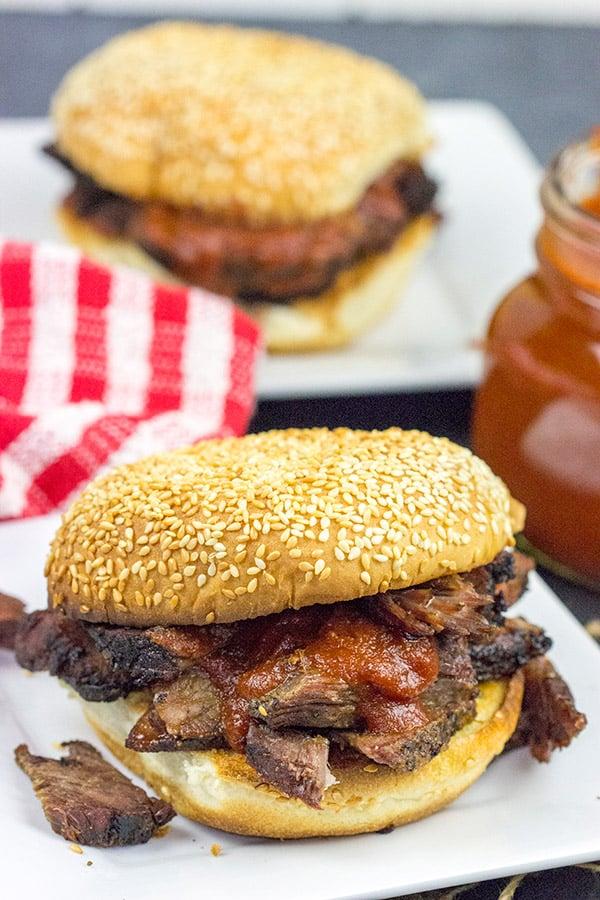 Smoked Beef Chuck Roast with Maple Bourbon BBQ Sauce