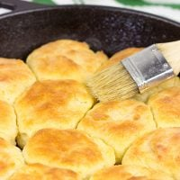 These Cast Iron Buttermilk Biscuits are perfect for a cold, winter morning! Buttery, flaky and delicious...and they only take about 30 minutes!