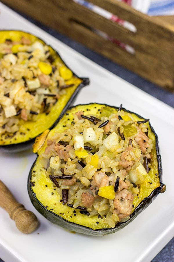 This Apple and Pork Stuffed Acorn Squash uses a number of classic Autumn ingredients...and one unexpected ingredient, too: vanilla beans!