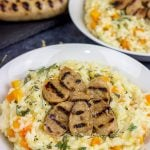 Butternut Squash Risotto with Sweet Apple Chicken Sausage