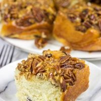 Arguably the predecessor of American cinnamon buns, Schnecken are a German pastry topped with a gooey, honey pecan mixture...and they're delicious!