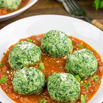 Packed with fresh spinach and ricotta cheese, these Malfatti are an easy homemade pasta that will quickly become a family favorite!