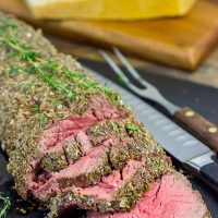 This Beef Tenderloin with Parmesan Butter is a delicious and surprisingly easy recipe to make!  This is perfect for a special occasion...or any day that ends in -y!