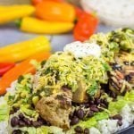 Grilled Jerk Chicken Burrito Bowls