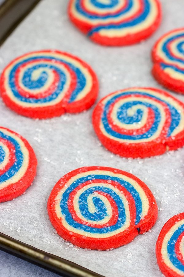 These Red White and Blue Cookies are a fun way to celebrate the 4th of July! These cookies are a fun twist on the classic sugar cookie, and they're quite tasty!