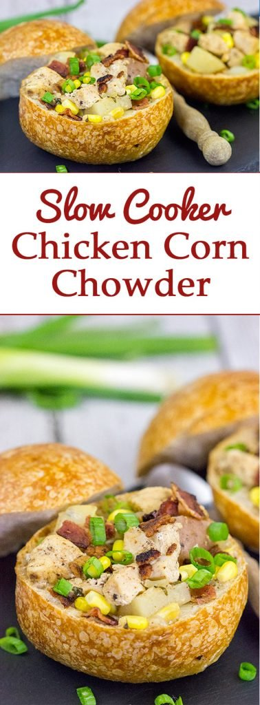 As we head into the cold days of winter, let's warm up with a batch of this tasty Slow Cooker Chicken Corn Chowder!