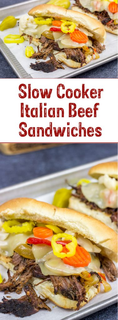 Starting with a classic chuck roast, these Slow Cooker Italian Beef Sandwiches make for an easy and delicious comfort food meal!
