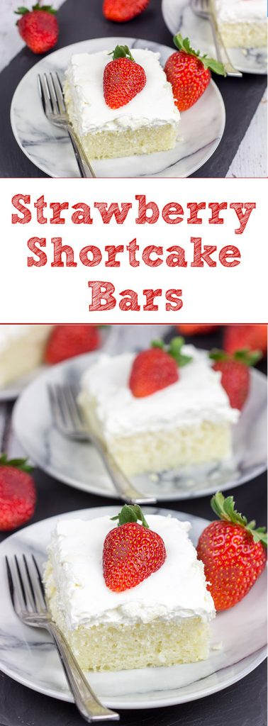 Celebrate fresh strawberry season with a batch of these Strawberry Shortcake Bars! These are the perfect sweet treat for summer picnics and parties!