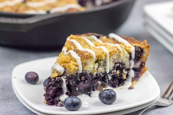 Topped with a cornmeal and brown sugar streusel, this Blueberry Streusel Cake is a delicious recipe for breakfast, brunch or dessert!