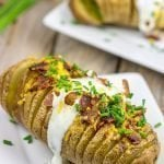 Loaded Hasselback Baked Potatoes