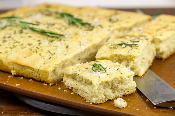 This Rosemary Focaccia is a classic Italian-style bread. The generous amount of olive oil leads to a wonderfully golden and flaky crust on this bread. Yum!
