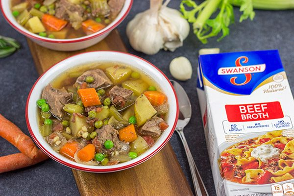 Put a spin on a classic winter comfort food with this Slow Cooker Pot Roast Soup! It's an easy, delicious dinner for cold nights!