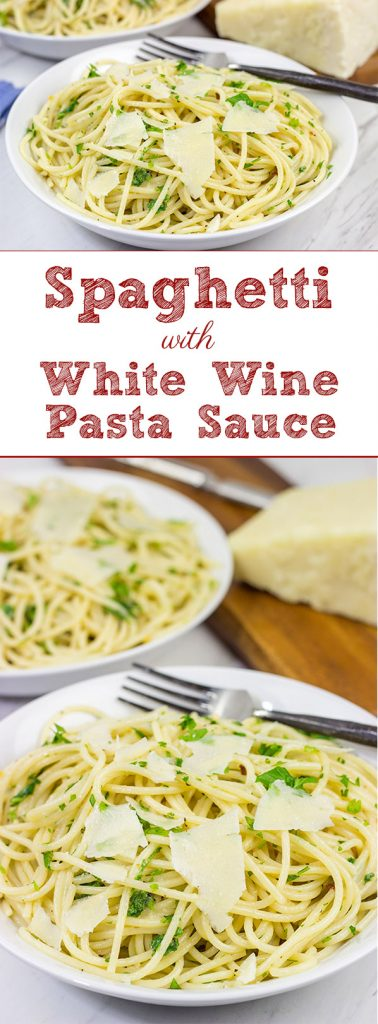 This Spaghetti and White Wine Pasta Sauce is delicious!  The sauce is a combination of olive oil, butter, Parmesan cheese and wine...and it's surprisingly easy to make!