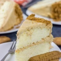 Packed with the flavor of speculoos cookies, this Cookie Butter Cake makes for one heck of a tasty dessert! Serve up a slice tonight with a mug of coffee!