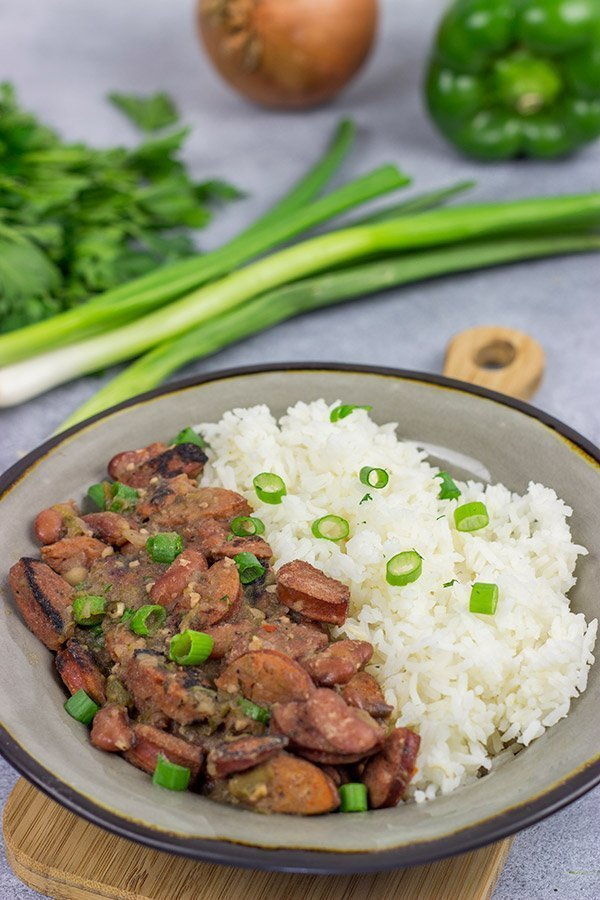 Chase the Monday blues away! Bring the flavor of New Orleans into your kitchen with a batch of this classic Red Beans and Rice!