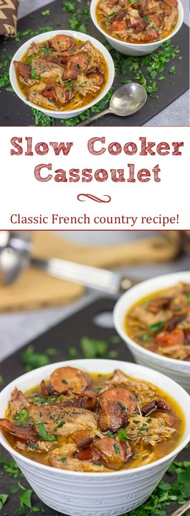 With it's origins in the French countryside, this Slow Cooker Cassoulet is a classic comfort food meal that'll keep your belly warm on the chilly nights ahead!