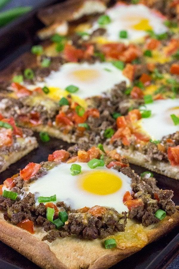 Southwestern Beef Breakfast Pizza