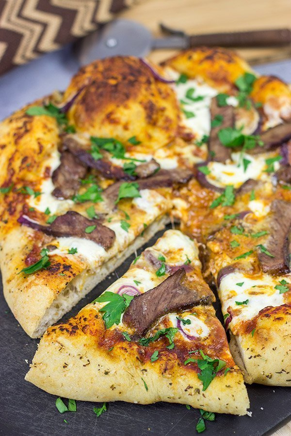 Steak and Gorgonzola Pizza