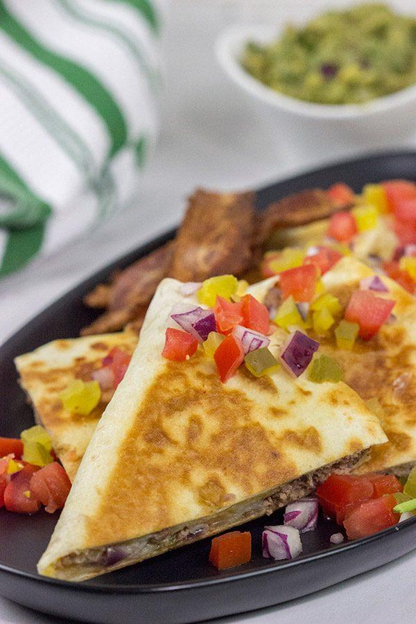 Mix up burger night...by turning 'em into Cheeseburger Quesadillas!