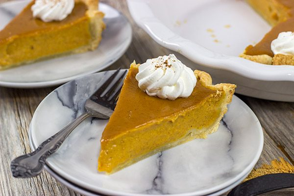 This Classic Pumpkin Pie features an extra silky pumpkin filling and a flaky pie crust. It makes for one tasty sweet Autumn treat!