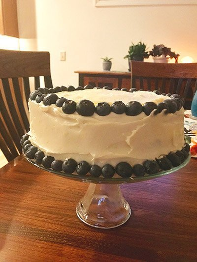 Lemon Blueberry Cake from Aunt Mary