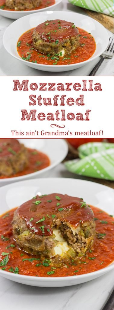 This Mozzarella-Stuffed Meatloaf is packed with comfort food flavor...and melty cheese! This ain't your grandma's meatloaf recipe!