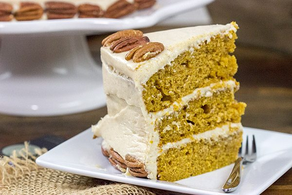 Packed with pumpkin and plenty of Autumn spices, this Pumpkin Spice Cake with Cream Cheese Frosting is a tasty way to celebrate the season!